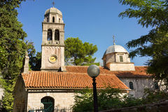 Montenegro. Church of St Peter and Paul in Risan, Boka Bay, Montenegro Stock Photo