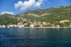 Montenegro. City on the banks of the Bay of Kotor Royalty Free Stock Photography