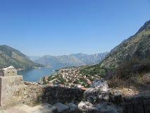 Montenegro. The city of Kotor, overlooking Boho-Kotor Bay Royalty Free Stock Photos
