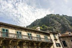 montenegro Ciudad-museo de Kotor Foto de archivo