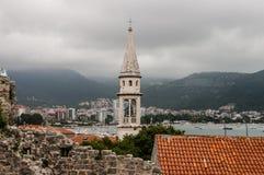 Montenegro, ciudad vieja de Budva imágenes de archivo libres de regalías