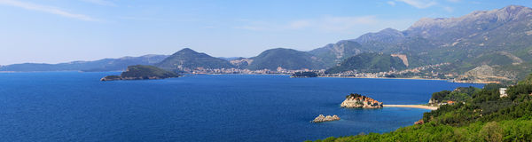 Montenegro coast panorama Stock Images