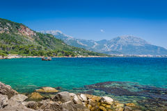 Montenegro coast seascape. Royalty Free Stock Photography
