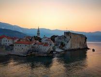 Montenegro Coast Village Sunrise royalty free stock images