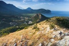 Montenegro. Coastal mountain landscape Stock Images