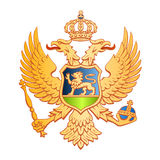 Montenegro coat of arms Royalty Free Stock Photos