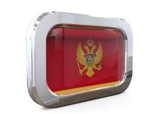 Montenegro 3D illustratie van de Knoopvlag Stock Fotografie