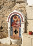 Mosaic icon of Virgin Mary and baby Jesus Royalty Free Stock Image