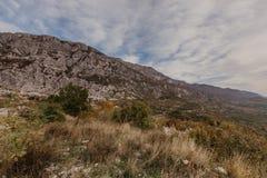 Montenegro de mening van de landschapsherfst royalty-vrije stock foto