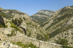 montenegro De stad van oude die Bar door de aardbeving wordt beïnvloed Royalty-vrije Stock Afbeelding