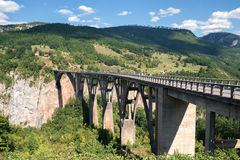 Montenegro, Djokovic-Brücke, Gebirgsschlucht Lizenzfreie Stockfotos