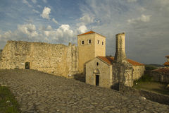 montenegro Dulcigno Vecchia città Le rovine della chiesa ortodossa e della moschea Immagini Stock Libere da Diritti