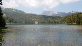 Montenegro, Black Lake in a Durmitor Park stock footage
