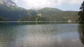 Montenegro, Black Lake in a Durmitor Park stock video