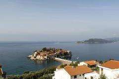 montenegro Eilandhotel Sveti Stefan Royalty-vrije Stock Afbeeldingen
