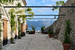 Montenegro fjärd Fotografering för Bildbyråer