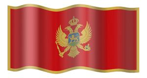 Montenegro Flag Stock Images