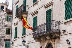 Montenegro Flag on Balcony Stock Photos