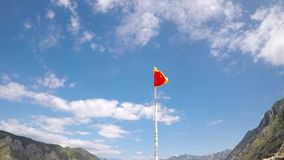 Montenegro flag and blue sky