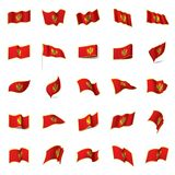 Montenegro flag, vector illustration Stock Photo