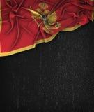 Montenegro Flag Vintage on a Grunge Black Chalkboard With Space vector illustration