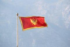 Montenegro flaga w Kotor cytadeli, Montenegro zdjęcie royalty free