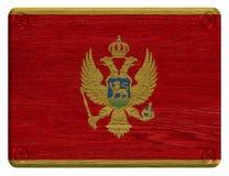 Montenegro flagga Arkivfoto