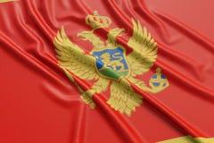 Montenegro-Flagge Stockbild
