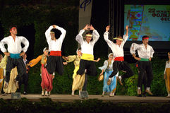 Montenegro folk dance group show on stage Royalty Free Stock Images