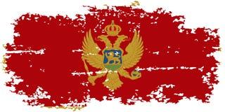 Montenegro grunge flag. Vector illustration. Royalty Free Stock Images