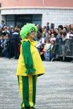 Montenegro, Herceg Novi - 17.02.2016: Clown at the Children's flower procession. Royalty Free Stock Photo