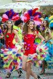Montenegro Herceg Novi - 6 06 2015: Dansare från klubban Diano Royaltyfri Bild