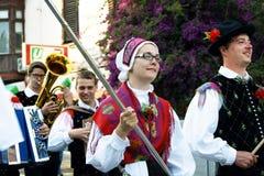 Montenegro, Herceg Novi - 28/05/2016: Defile Slovenian folk group Iskraemeco from city of Kranj Royalty Free Stock Photo