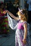Montenegro, Herceg Novi - 04/06/2016: Dziewczyna w czarodziejskim kostiumu Zdjęcia Royalty Free
