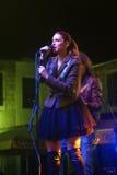 Montenegro, Herceg Novi - 28.10.2015: Elena Pudar, soloist of the famous band Neverne bebe. Stock Photos