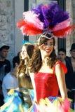Montenegro Herceg Novi - 04/06/2016: En dansare från klubban Diano Arkivfoton