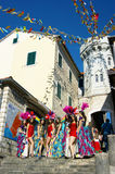 Montenegro, Herceg Novi - 04/06/2016: A group of girls-dancers from the club Diano Stock Photo