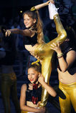 Montenegro, Herceg Novi - 04/06/2016: Montenegrin dancing schoolgirls. Stock Images