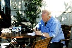 Montenegro, Herceg Novi - 13.02.2016: Will Simpson is drawing in Herceg Novi Royalty Free Stock Images
