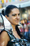Montenegro, Herceg Novi - 04/06/2016: Woman in fancy dress star warrior. Stock Images