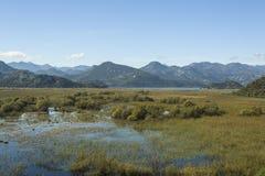 montenegro Het meer van Skadar Het is één van de mooiste meren in Europa Royalty-vrije Stock Afbeelding