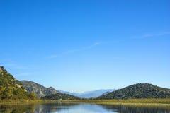montenegro Het meer van Skadar Het is één van de mooiste meren in Europa Stock Fotografie