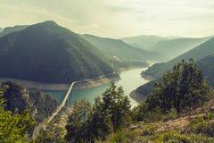 montenegro Het Nationale Park van Durmitor De canion van de Pivarivier Royalty-vrije Stock Afbeelding