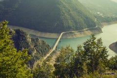 montenegro Het Nationale Park van Durmitor De canion van de Pivarivier Stock Fotografie