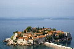 montenegro Hotel Sveti Stefan dell'isola Fotografie Stock Libere da Diritti