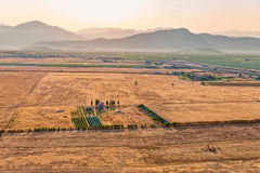 Montenegro house in the fields - aerial Stock Photo
