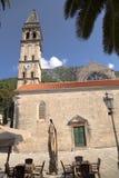 Montenegro. Iglesia en Perast Fotografía de archivo libre de regalías