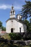 Montenegro. Igreja ortodoxa velha em Cetinje fotografia de stock royalty free