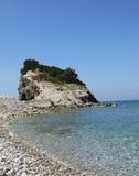 Montenegro. The island of St. Nicholas about Budva Stock Photos