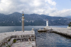 Montenegro. Islet Our Lady of the Rocks royalty free stock images